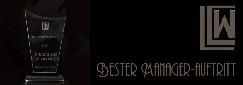 BESTER MANAGER-AUFTRITT